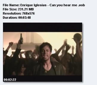 Скачать Enrique Iglesias - Can you hear me (.vob)